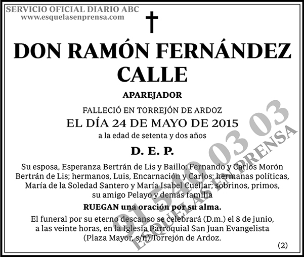 Ramón Fernández Calle